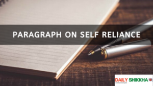 paragraph on Self Reliance