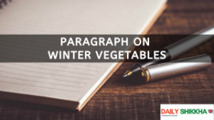 paragraph on Winter Vegetables